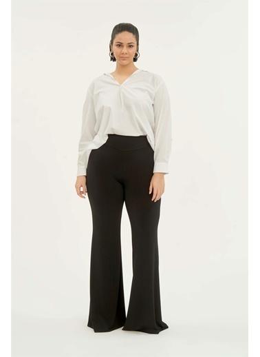 Luokk Alıson Ispanyol Paça Kadın Pantolon Siyah Siyah